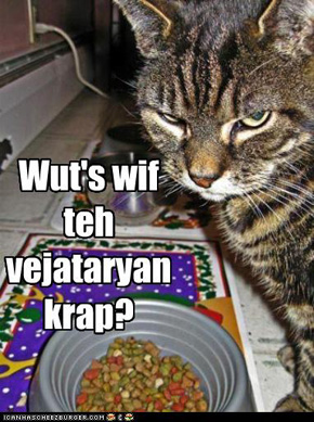 Wut's wif teh vejataryan krap?