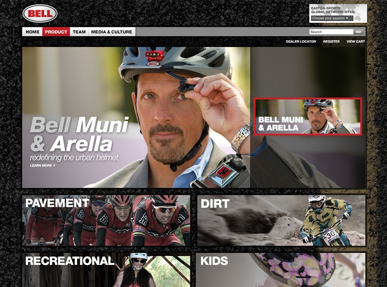 Bell Sports Product Page