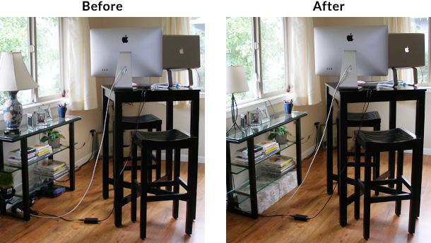 Desk Cord Management