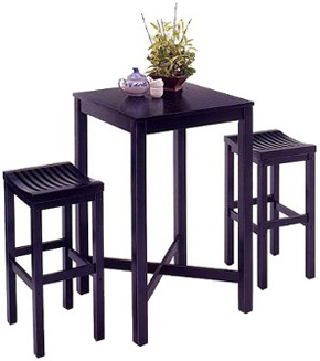 Target Black Bar Table with 2 Stools