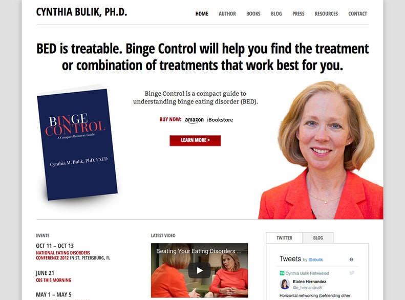Dr. Cynthia Bulik Website