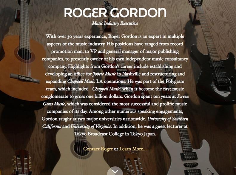 Roger Gordon Website