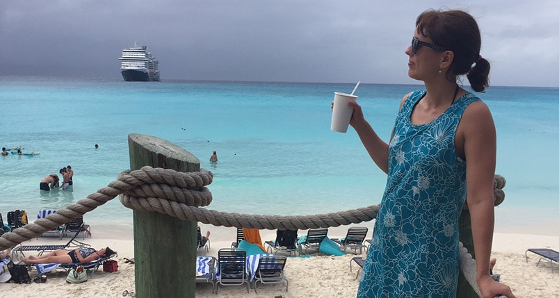 Pina Colada on Half Moon Cay