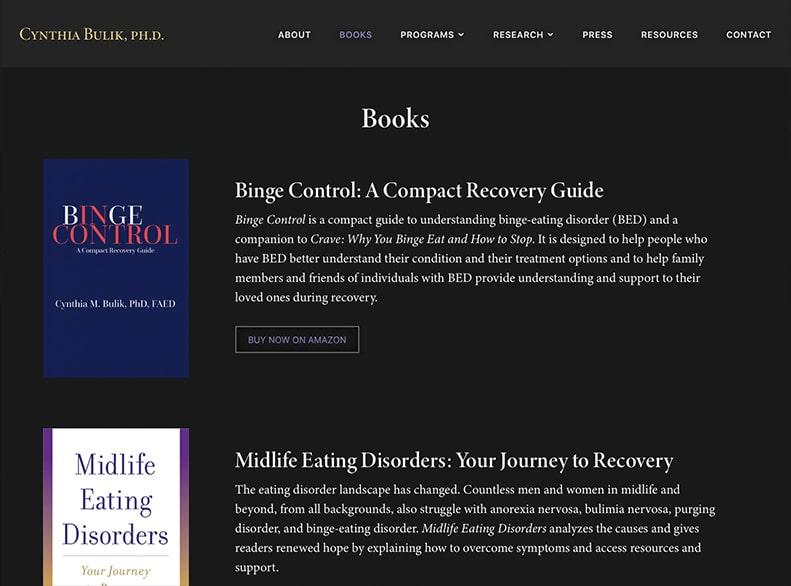 Cynthia Bulik Website